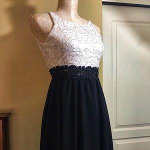 BCX GIRL Pretty Party Sequin & Sheer Dress S/12